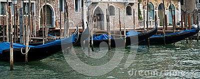 Lined-up Gondolas