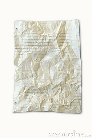 Lined white paper