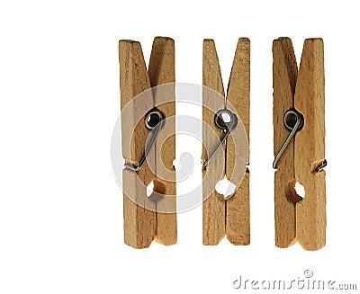 Linen clothespins