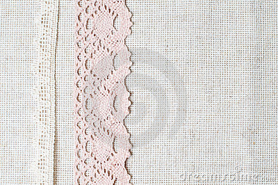 Linen fabric and handmade lace