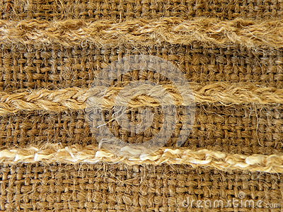 Linen fabric with strings