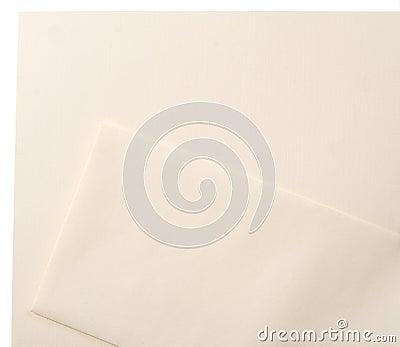 Linen Letterhead Envelope blank set