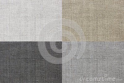 Linen texture for the background of four colors