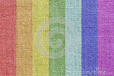 Linen texture in the rainbow colors