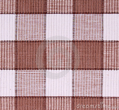 Linen white and brown fabric