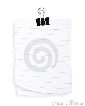Linepaper with black clip (with clipping path)