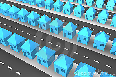 Lines of 3d houses