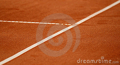 Lines on the tennis court
