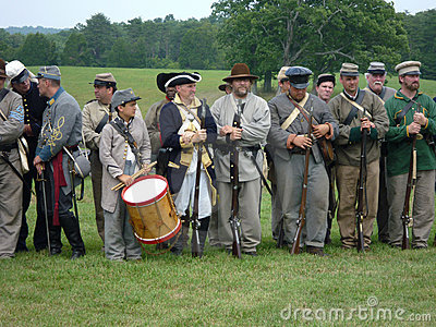 Lineup of Confederate Soldiers Editorial Image