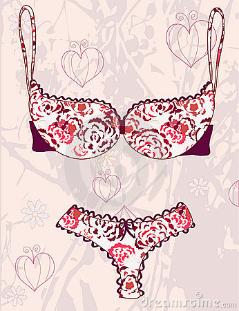 Lingerie fashion background