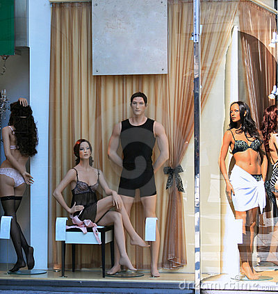 Lingerie shop window