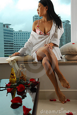 Lingerie woman