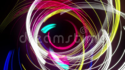 Linha abstrata concêntrica colorido laço do redemoinho com alfa ilustração stock