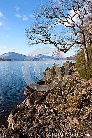 Linha costeira de Loch Lomond