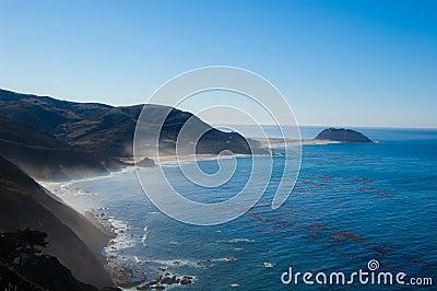 Linha costeira do oceano