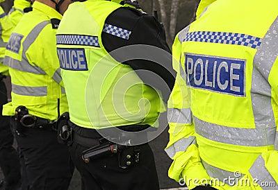 Linha de polícia Imagem de Stock Editorial
