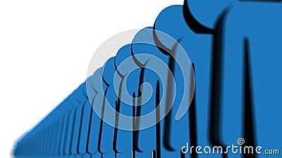 Linha de povos azuis ilustração do vetor