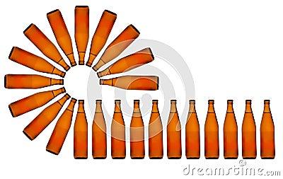 Linha de produção da cerveja