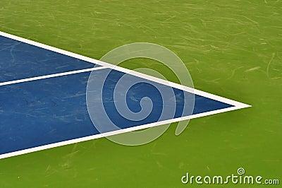 Linha fundo da corte de tênis