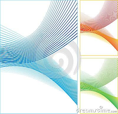 Linhas de cor abstratas.