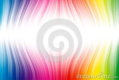 Linhas de espectro no branco