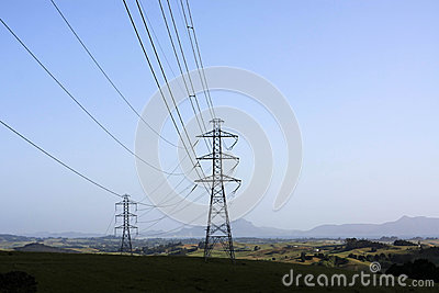 Linhas eléctricas no coutryside