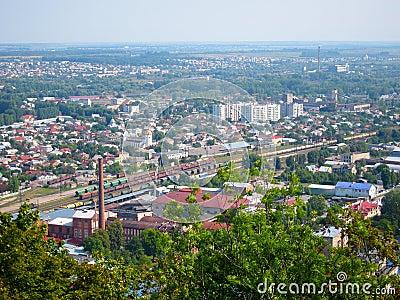 Linia kolejowa pociągi, Lviv Ukraina