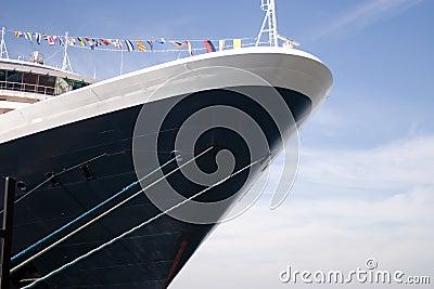 Liniowa rejsu statku podróży oceanu