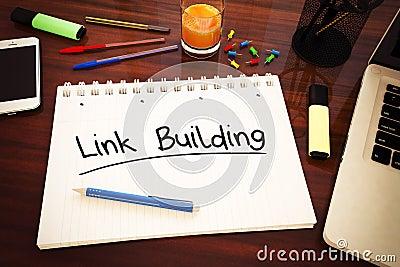 Link Building Cartoon Illustration