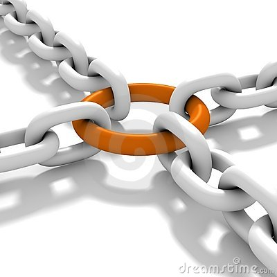 Link of chains Stock Photo