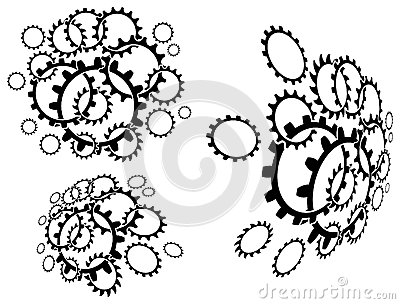Linked cogwheels