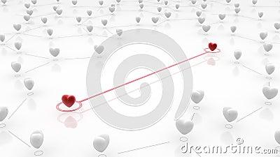 Linked Heart Couple