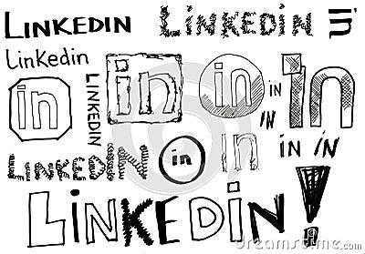Linkedin Doodles Editorial Image