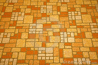 Linoleum Tile From The 1970s Royalty Free Stock Photo
