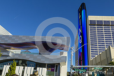 The Linq Entrance in Las Vegas, NV on January 04, 2014 Editorial Stock Photo