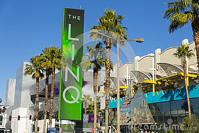 The Linq Sign in Las Vegas, NV on January 04, 2014 Editorial Image