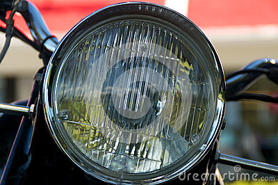 Linterna de la motocicleta del vintage
