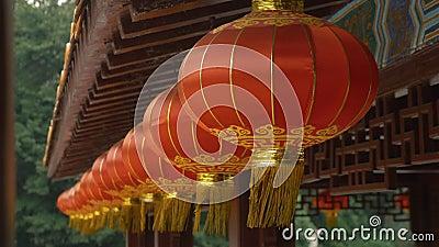 Linterna roja china para celebrar el año nuevo chino metrajes