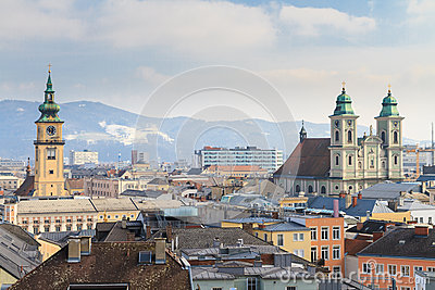 Linz, View on old city, Austria
