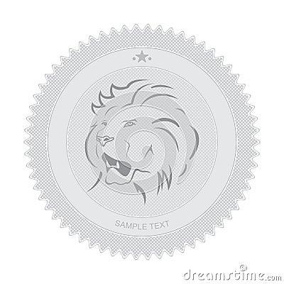 Lion Badge