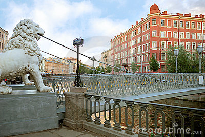 Lion bridge (Saint-Petersburg)