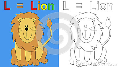 Lion Coloring Book Page