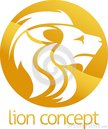 Free Lion Concept Circle Design Stock Photography - 52653232