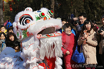 Lion dance Editorial Stock Image