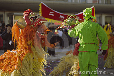 Lion dance Editorial Photography