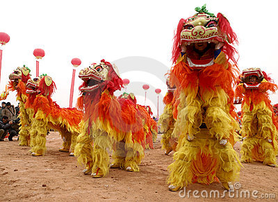 Lion dance Editorial Photo