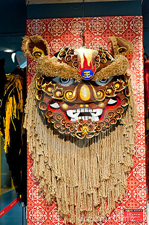 Lion dance head Editorial Image