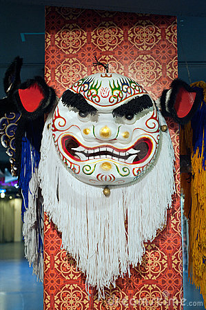Lion dance head Editorial Stock Image