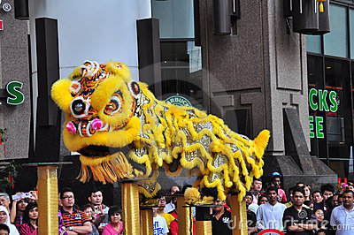 Lion Dance Performance Editorial Photo