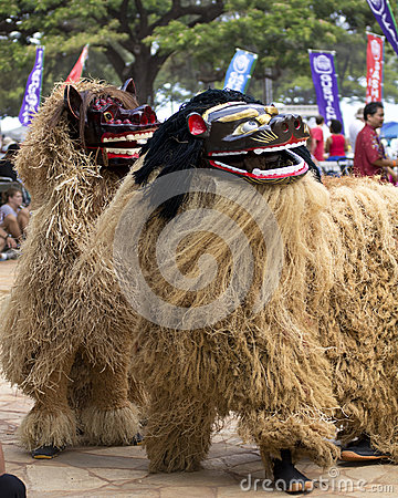 Lion dancers Editorial Image